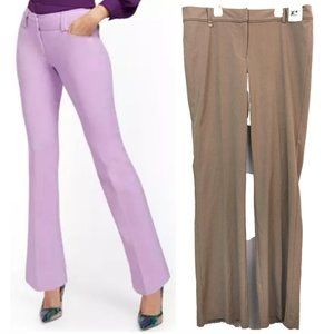 NEW YORK COMPANY Tailored Flare Dress Pants Brown